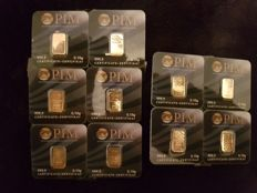 PIM - 10 Pieces - 0.10 grams 999.9/1000 Fine Gold
