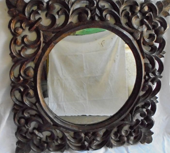 Mirror with wooden frame, Italy, early 1900s
