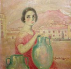 J. Azcoitia Goyenechea - The  Watercarrier Woman