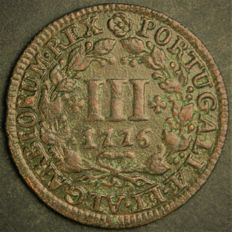 Portugal - Monarchy - D. José I - III Reis 1776 - Copper