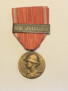 Medal of the battle of Verdun of 1916, Prudhomme Model, WW1 France