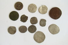 France - Lot with 13 coins, around 1050–1790 A.D.