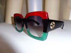 Gucci - Red/Black/Green - Sunglasses - Ladies