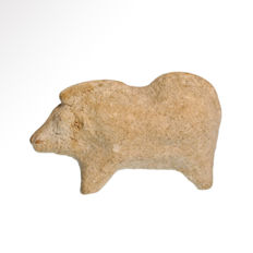 Greek Terracotta Boar, 6.7 cm