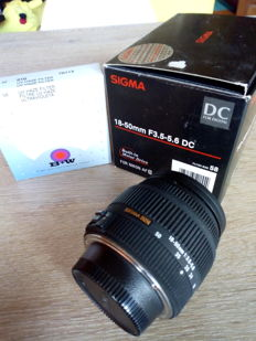 SIGMA 18-50 F3.5-5.6 DC for NIKON digital in box with 58 filter.