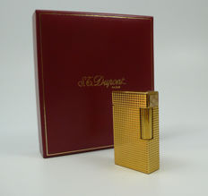 S.T. Dupont Paris - Gold plated diamond tip lighter in case