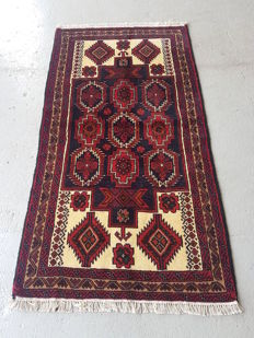 Hand Knotted Persian Balouchi Rug 190 x 100cm - Iran 20th century