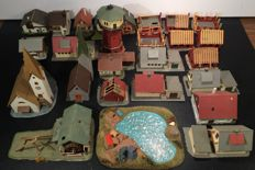 Pola/Faller/Kibri N - different cottages/houses, lighthouse, diorama of camping site with figures etc.