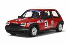 Otto Mobile - Scale 1/18 - Renault 5 GT Turbo Coupe #2 - Rood - Limited Edition 1250