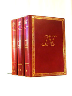Luxurious Books with authentic manuscript  by Molitor and illustration signed by Revol