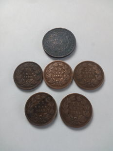 Portugal 1884/1885/1850/1924/1938/ Kingdom-Republic (9 coins)