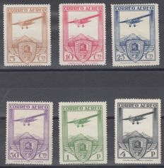 Spain 1930 - International Railway Congress. Aerial Mail - Edifil 483/488