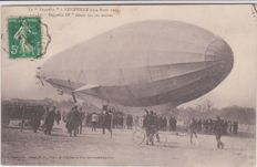 Superb lot of 36 old postcards on the topic of aircrafts and zeppelins