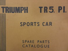 TRIUMPH TR5 parts catalogue 1967-1968. Spare parts catalogue 1967-1968