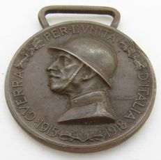 Commemorative Medal of the Italo-Austrian War coined in the Enemy Bronze.