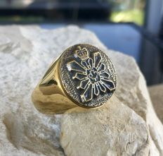 CSIS SCRS  Ring Canada Security Intelligence Service Hypoallergenic 24k Gold Plated 21st Century