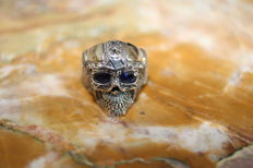 Sterling silver ring (925) skull (for men)/size 62.2