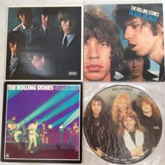 The Rolling Stones  3 LP Albums and Metallica Picture Disc