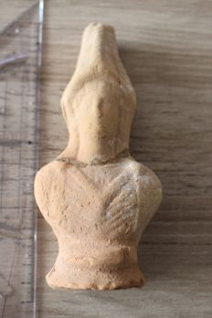 Baked clay bust from the Greek colony Apulia - 15 cm height