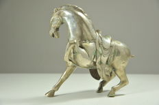 Bronze Horse with Harness
