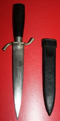 Dagger, in leather sheath in very good condition, maker: Herder, Solingen.