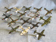 15 x assorted Corgi 1:72nd scale model diecast aircraft complete with stands.
