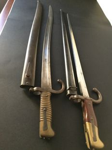 Two French bayonets Saint Etienne