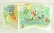 2 Marc Chagall double page Lithographs from 'Odyssey'
