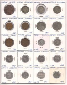 Portugal - a lot of coins from a private collection of 59 bayonets, the period 1883 - 1991, including silver.