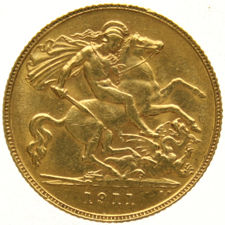 England - ½ Sovereign 1911 george V - gold