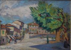 Robert Vallin (20th century) - Piazza del villaggio perenne in Italia, 1941