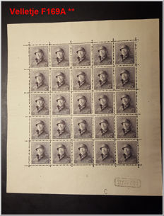 Belgium 1919/1960 - Selection of sheets and blocks - OBP F168A/F169A with BL14, 17 and 32