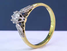 Stunning diamond brilliant ring - Size 51 - No Reserve price!