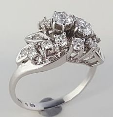 14 kt Gold Diamond Ring with 1.06 ct - size 53