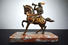 Indian on a stately horse