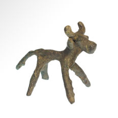 Early Elamite Bronze Stag, 8.6 cm