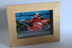 Nice framed image, personally signed by Norick Abe