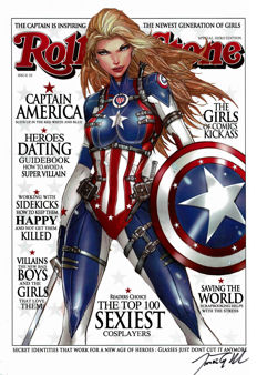 Jamie Tyndall - Limited Edition Poster - Signed - Captain America - Rolling Stone Magazine Cover