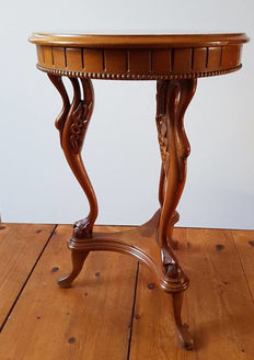 Walnut side table with legs as swans - Netherlands - 1960s