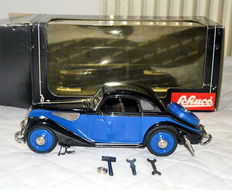 Schuco, Germany - Length: 24 cm - BMW 327 Coupé, clockwork tin toy, 1990s
