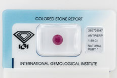 Ruby - 1.89 ct  - No Reserve