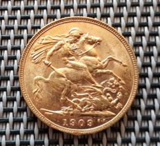 United Kingdom - Sovereign 1909 Edward VII - gold