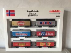 "Märklin H0 - 4484 - Wagon set ""Norsk Industri"" Nidar Bergene There are 6 wagons in the set"