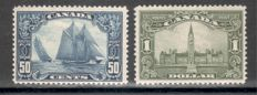 Canada 1928 – postage stamps George V and countryside, Michel 128-138