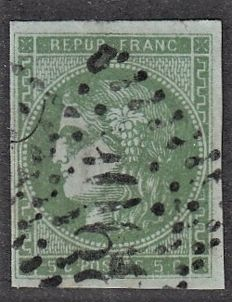 France 1870 - 5c green with shade to examine – Yvert n° 42B
