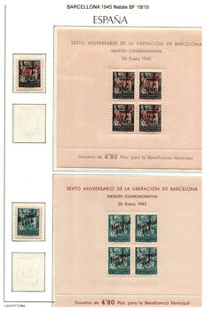 Spain 1936-1945 - Nationalist issues Barcelona sheetlets