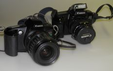 Canon EOS 1000 F with 35-105 mm Ultrasonic + Canon EOS 500 with 28-80 Ultrasonic 1990