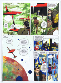 Matena, Dick - Original page in colour (p.16) - Alias Ego 2 - De valse goden - (1995)