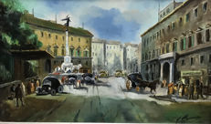 Unknown artist (20th century) - Strada  di Napoli