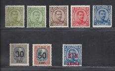 Iceland 1921/1926 - King Christian IX and X - Michel 99/103, 112/113 and 121